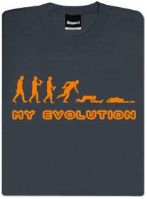Tričko s vtipným potiskem - My Evolution